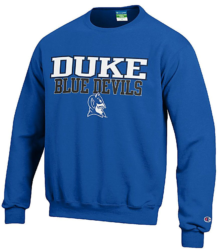 Duke Blue Devils Mens Royal Arena Screen Printed Crew Sweat by Champion $36.95