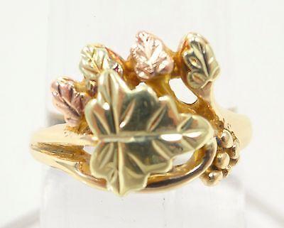 10k Solid Gold Ring Vintage Black Hills Gold Leaf Can Be Sized Free Shipping Black Hills Gold Jewelry Jewelry Black Hills Gold