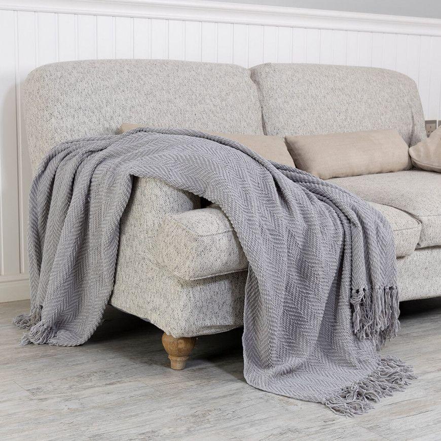 شال كنب لون رصاصي Throw Blanket Blanket Sofa