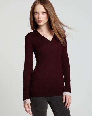 47b430d75696b Burberry Brit Merino V Neck Sweater - Bloomingdale s Exclusive  Bloomingdale s