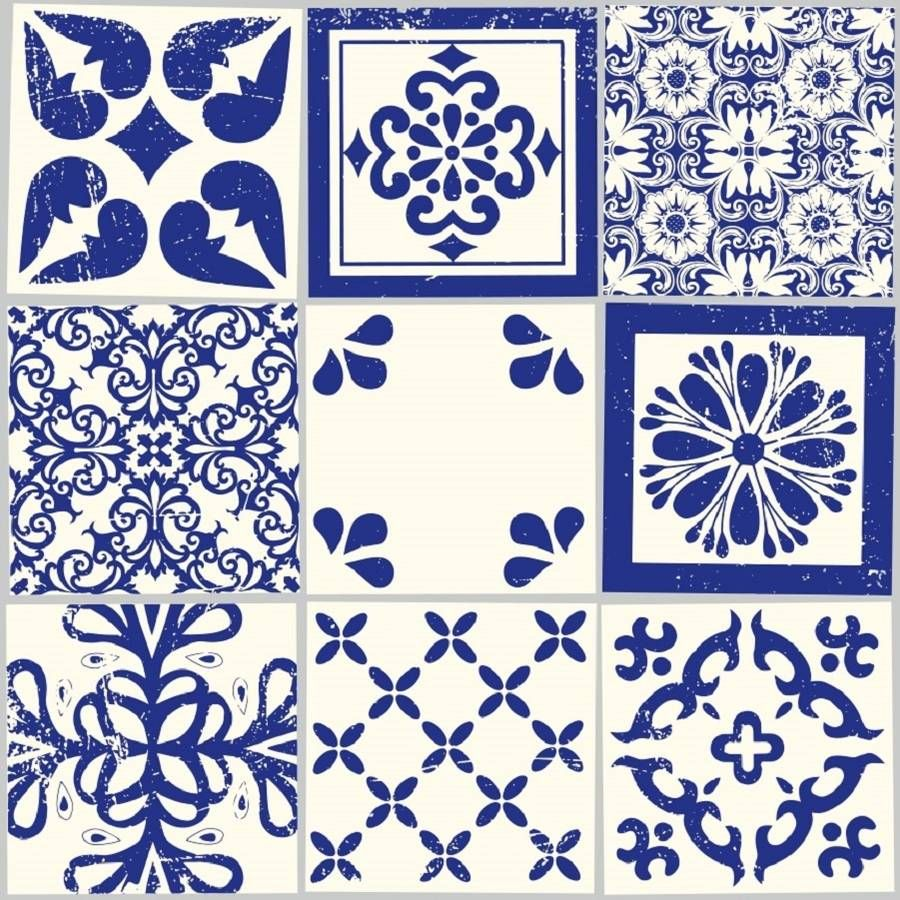 Azulejos vinyl floor tiles victorian cottage bungalow and kitchens azulejos vinyl floor tiles dailygadgetfo Image collections
