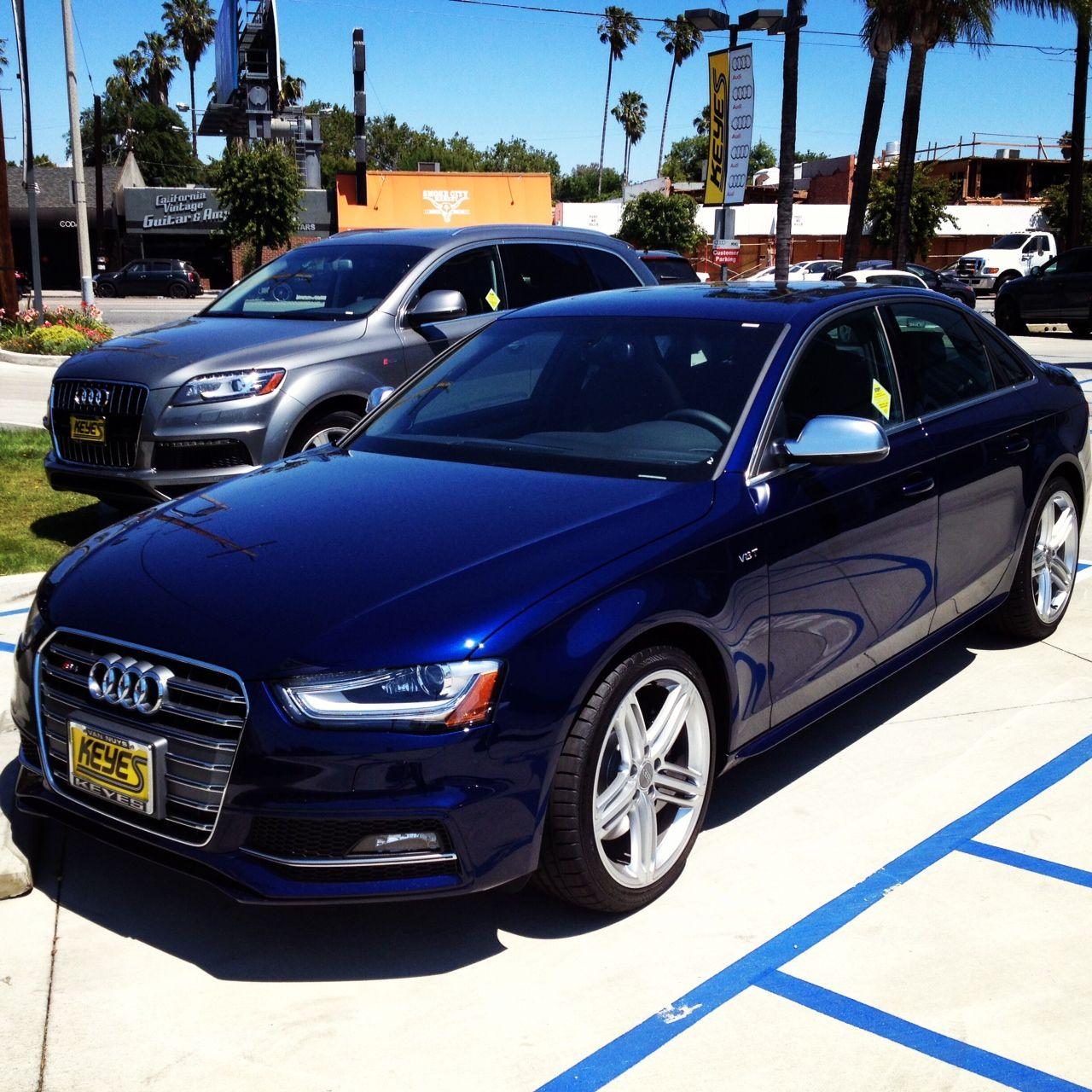 2013 Audi S4 Prestige In Estoril Blue Crystal Effect. What