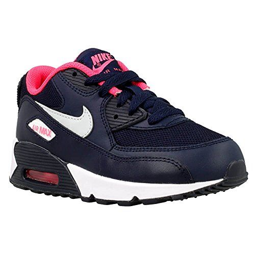 new concept 54789 3d5a0 Nike Air Max 90 Mesh PS Girls Sneaker 115 M US Little Kid  Be