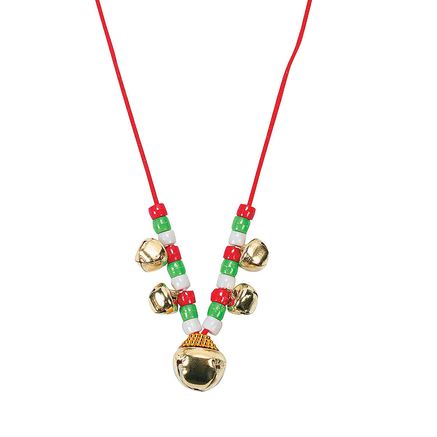 Beaded Jingle Bell Necklace Craft Kit 48
