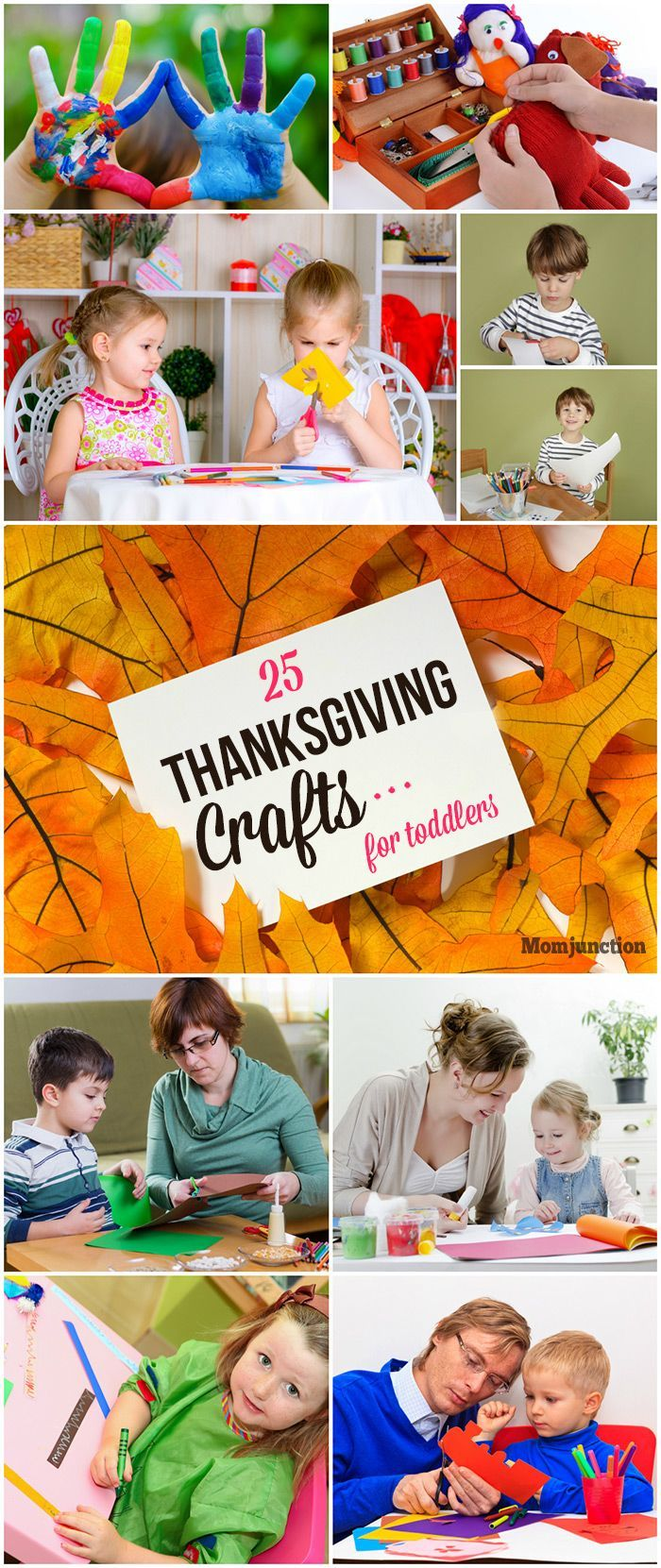 25 Thanksgiving Crafts For Toddlers/Preschoolers