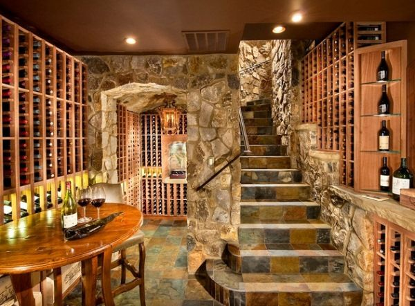 Home Wine Cellar Design Impressive Home Wine Cellars Design  Great Floor And Iron Work Description . Inspiration Design