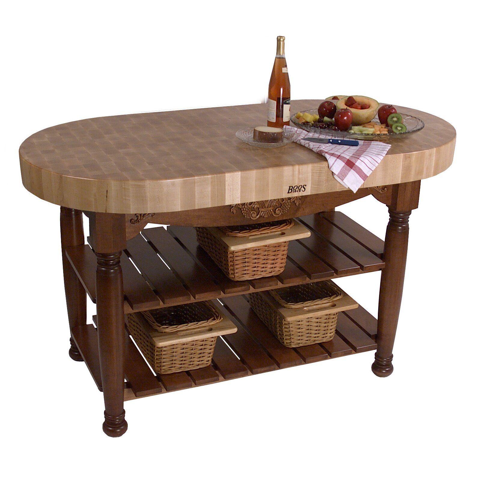 American Heritage Furniture Restoration: American Heritage Prep Table With Butcher Block Top