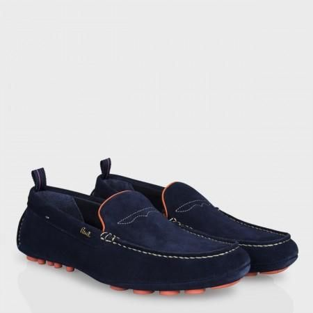 Paul Smith Men's Shoes - Navy Suede Rico Driving Shoes