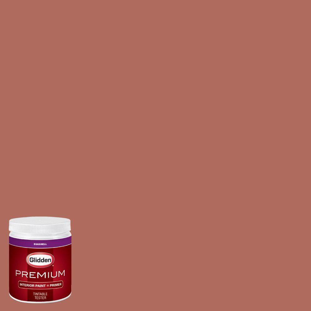 Glidden Premium 8 oz. #HDGO07D Burnt Clay Eggshell Interior Paint with Primer Tester