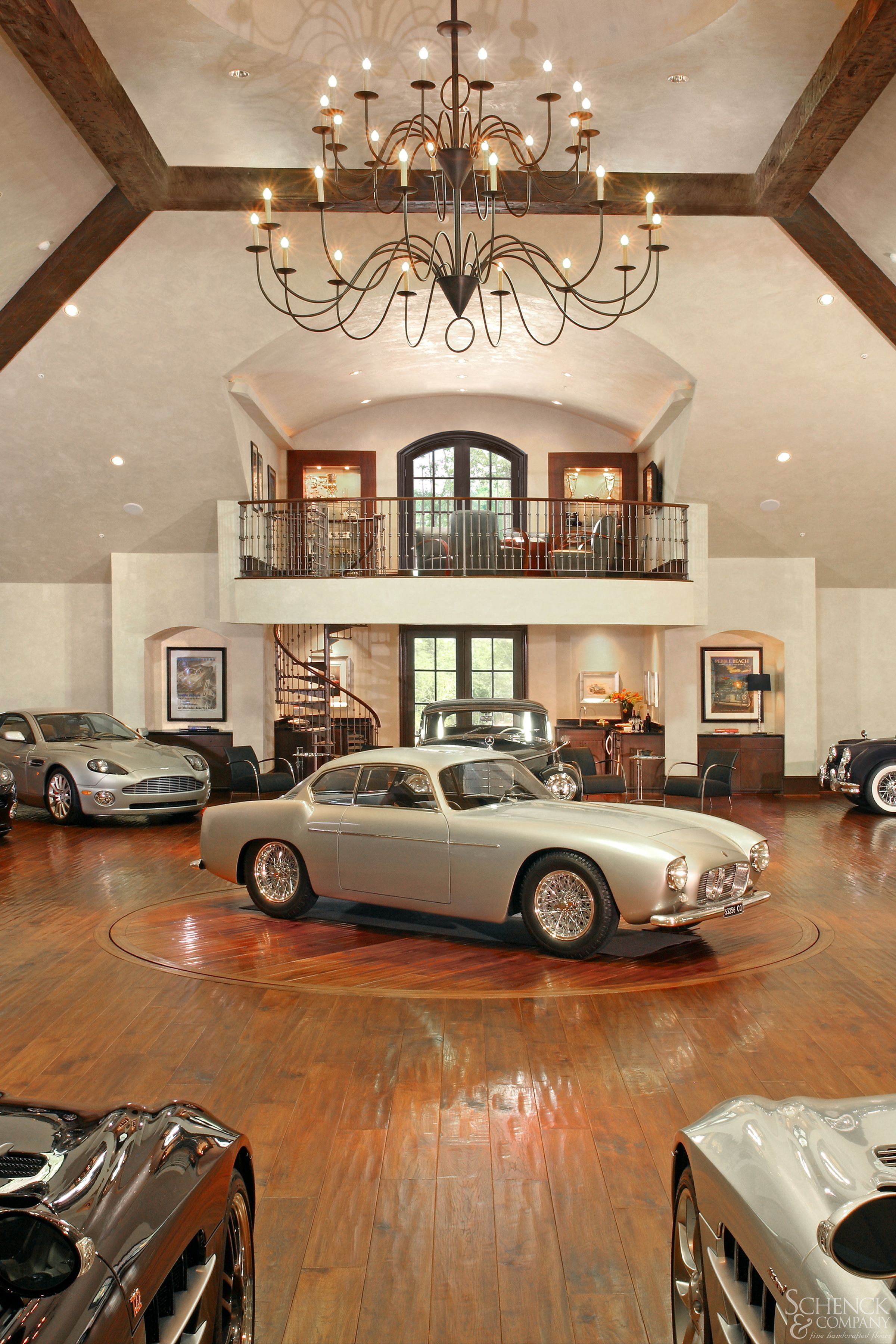 Amazing Hand Scraped Floor For An Amazing Car Collection With So