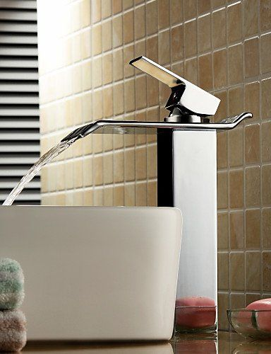 Bathroom Sink Taps Contemporary Waterfall Brass Chrome Simple Stylish  Luxurious Classic And Durable Design
