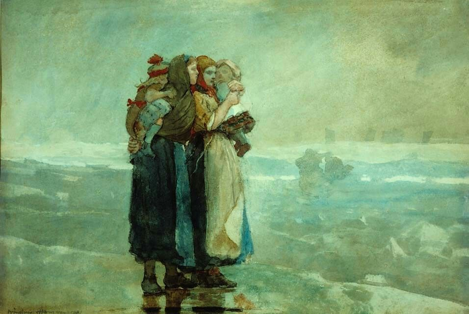 Winslow Homer  Forebodings, 1881  Watercolor on wove paper