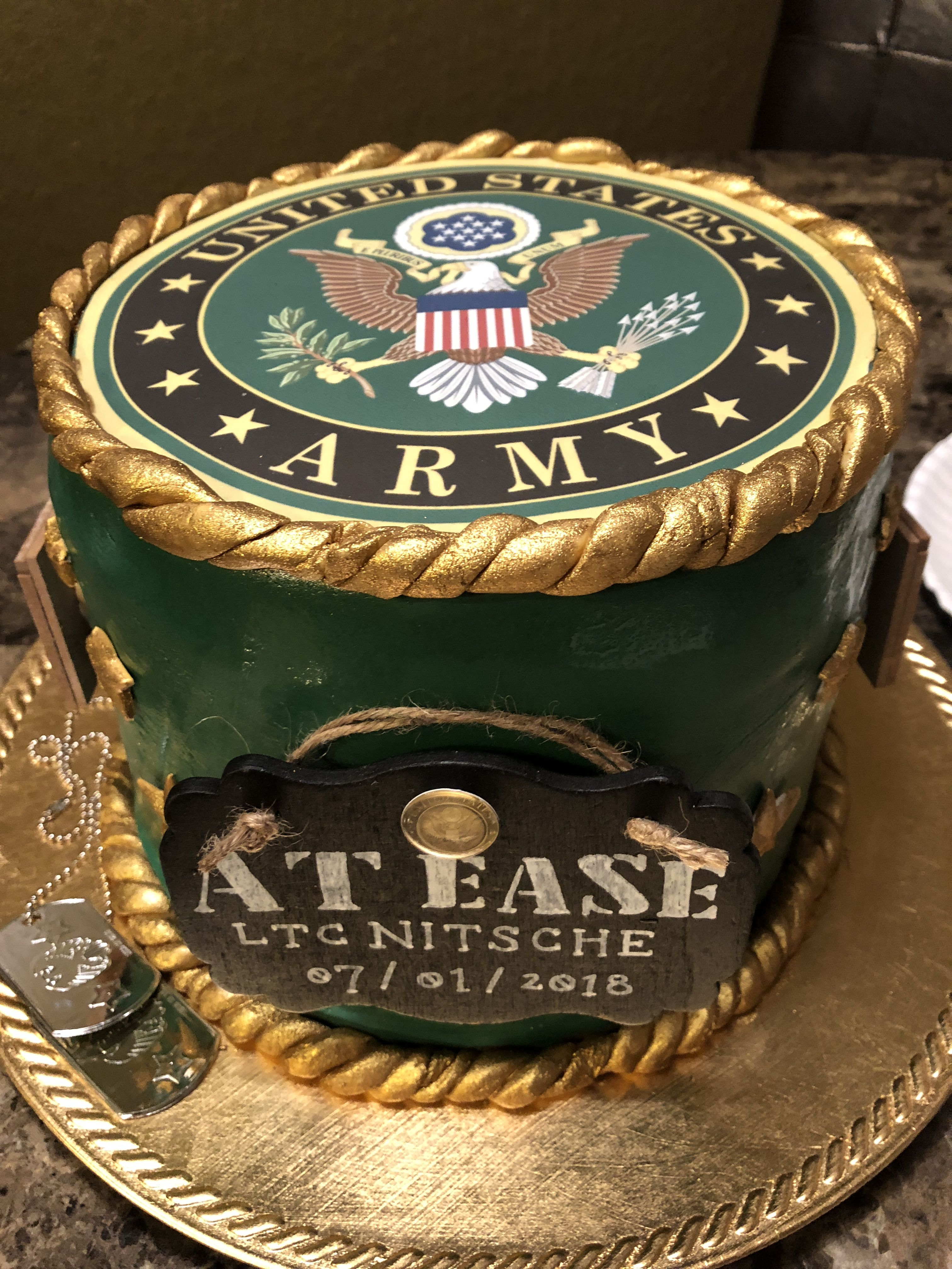 Army Retirement Cake With Images Army Retirement Military