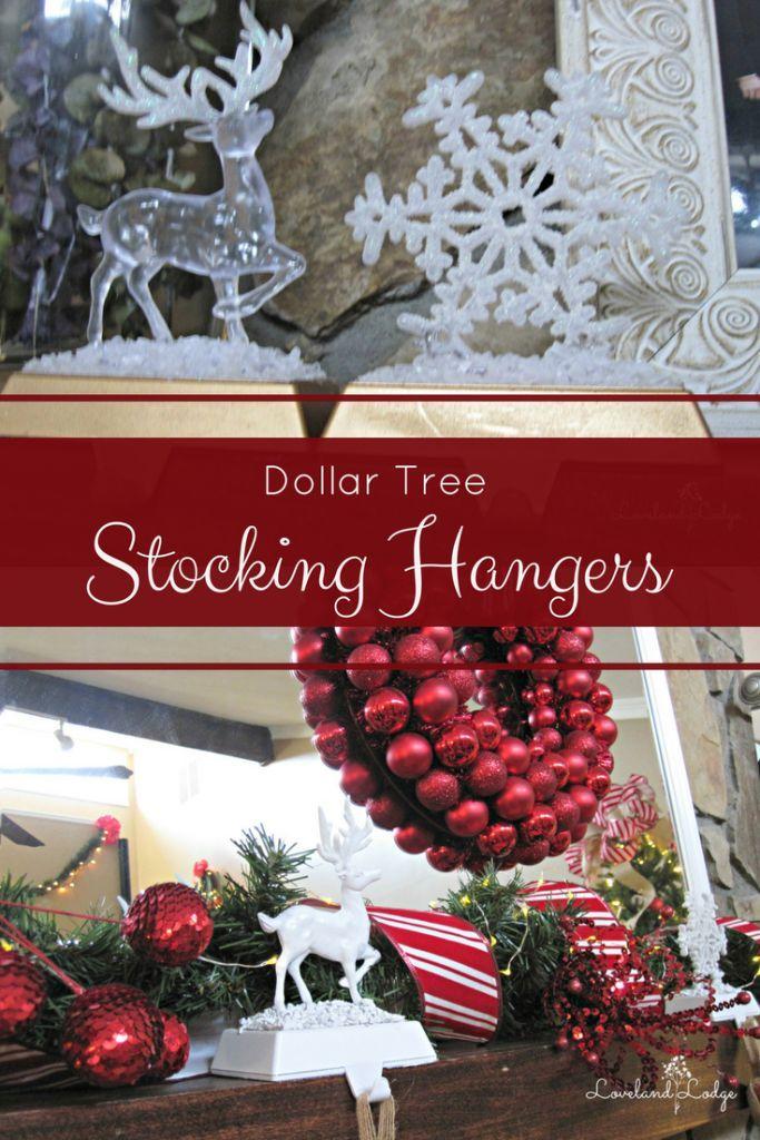 Frugal Friday Dollar Tree Stocking Hangers Stocking