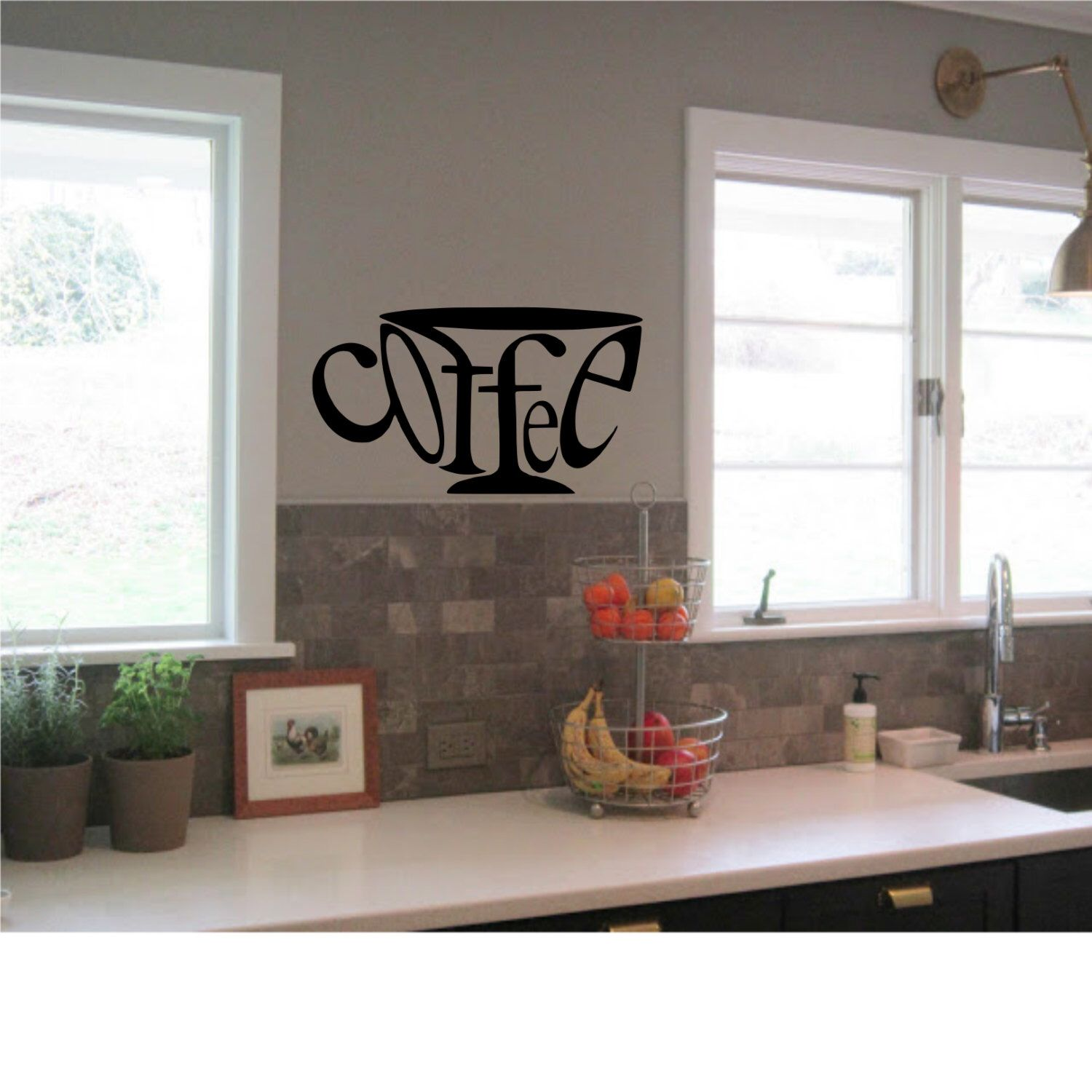 Coffee Wall Decal Kitchen Wall Art High Quality Wall Decal - Custom vinyl wall decals coffee
