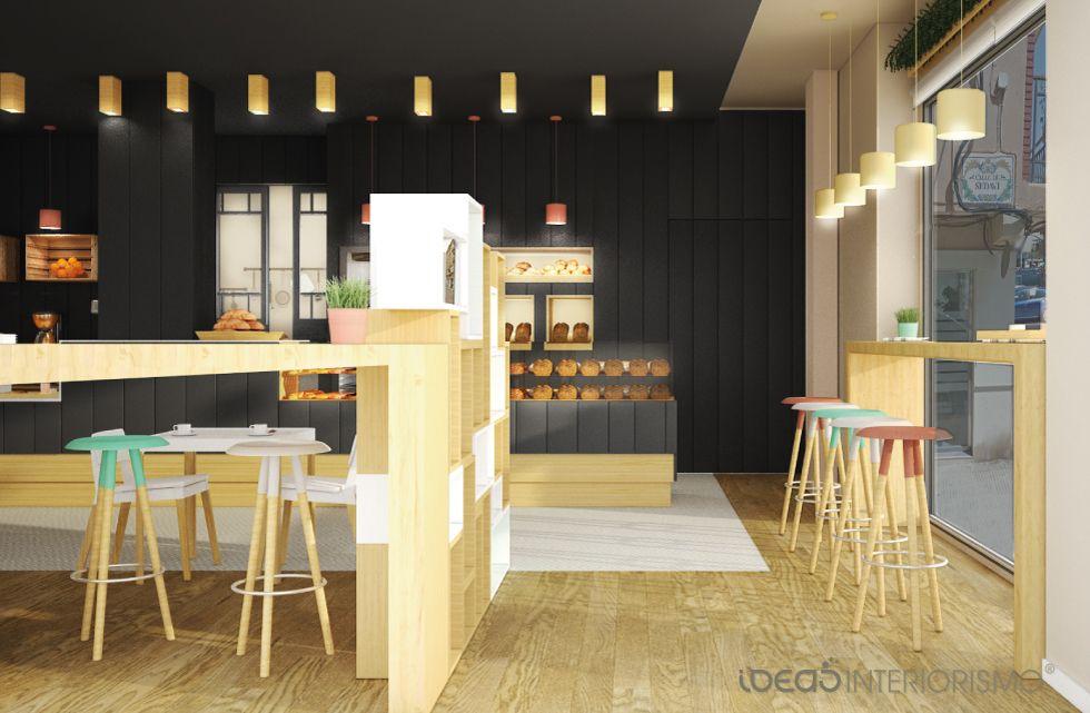 Proyecto interiorismo panader a cafeter a llesca for Proyecto decoracion interiores