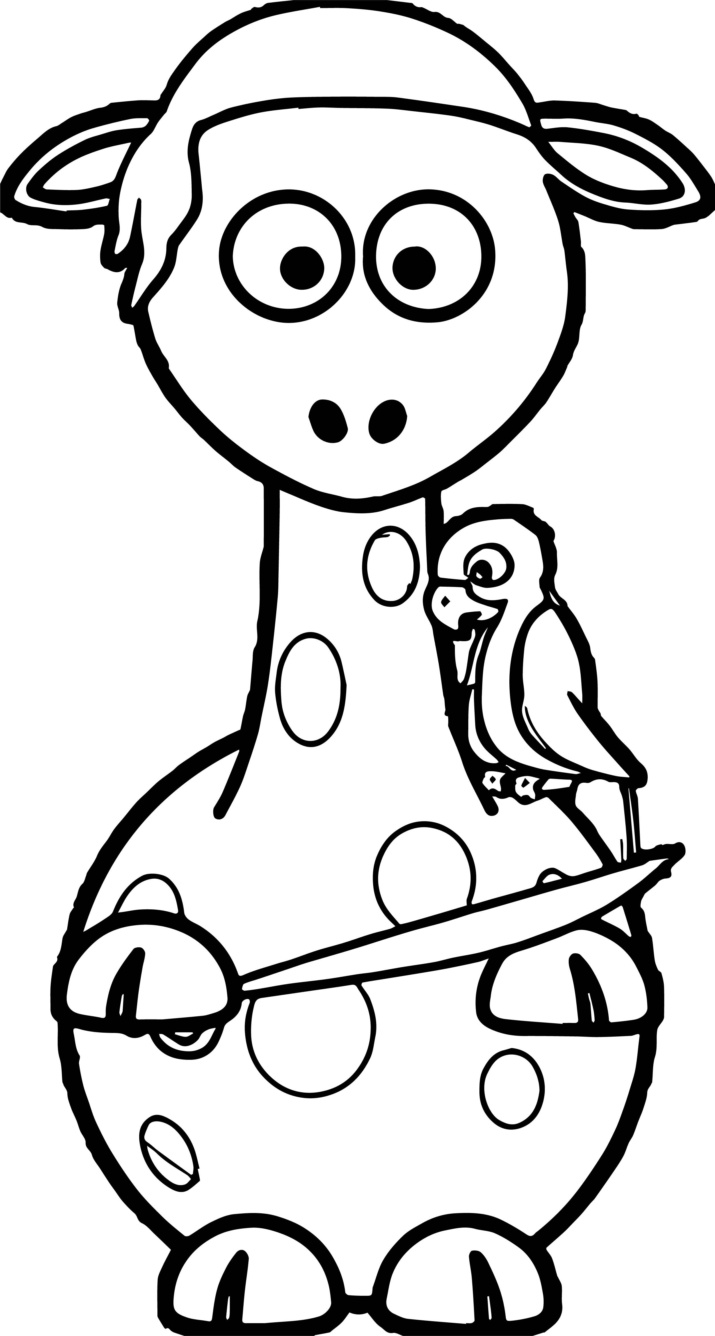 cool Giraffe Pirate And Parrot Coloring Page | wecoloringpage ...