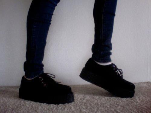 Black platform sneakers/ shoes