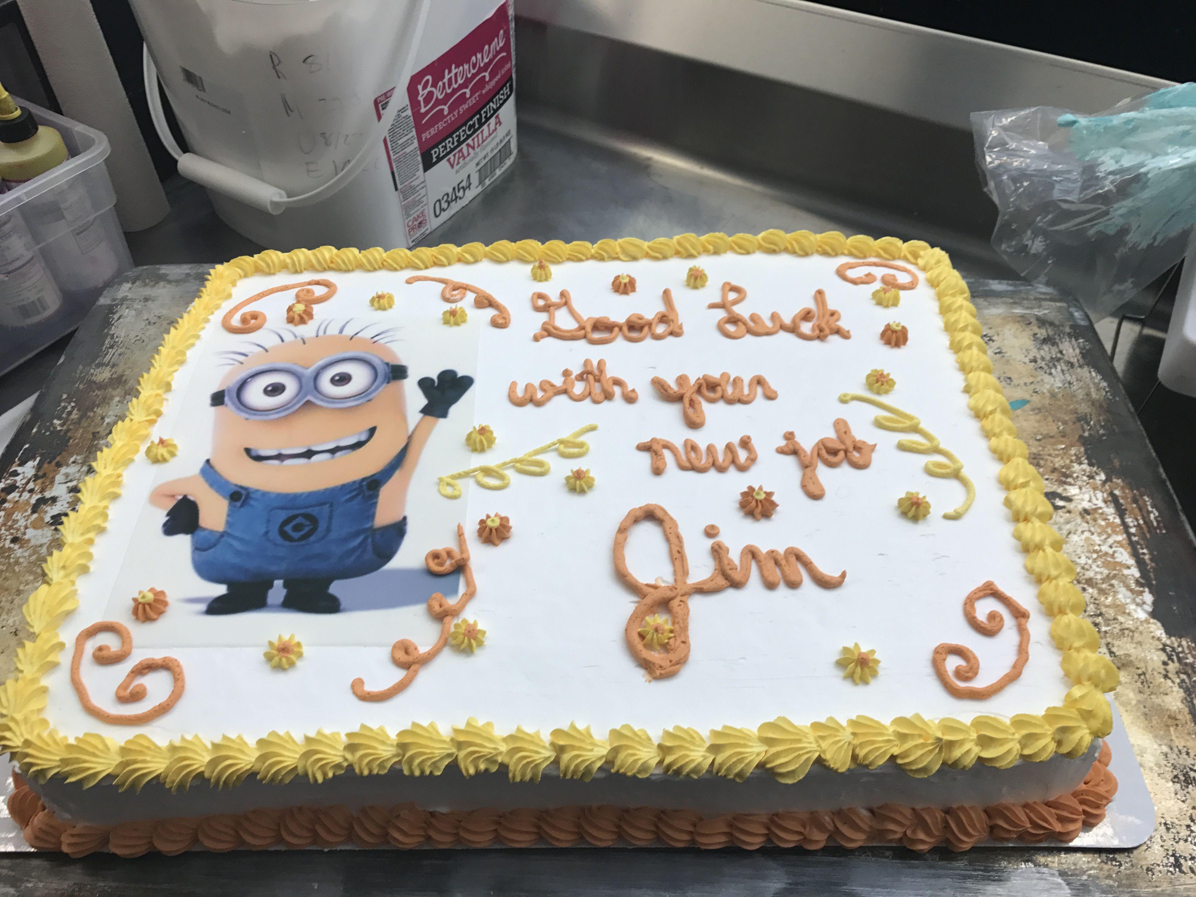 Minions Retirement Cake