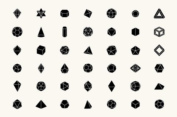 3D Geometric Shapes by Alex Roka on Creative Market