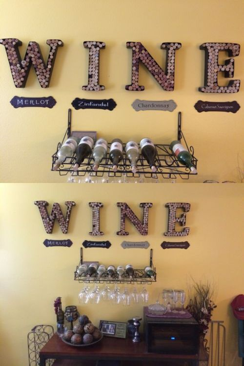 Bottle Stoppers and Corks 63503: W I N E Metal Letters Wall Decor ...