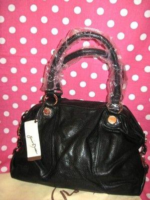 5b84a4ebf3 New Junior Drake Black Gold Leather Satchel Handbag Purse Shoulder Tote Bag