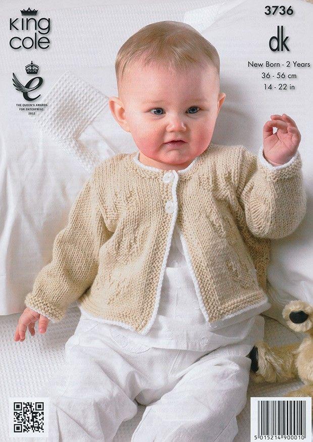 King Cole Baby Dress & Cardigan Comfort DK Knitting Pattern 3736 ...