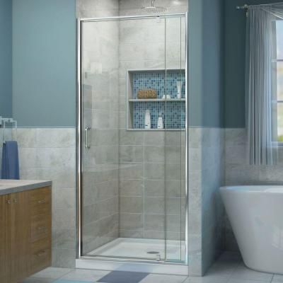 Dreamline Flex 28 To 32 In X 72 In Framed Pivot Shower Door In Chrome Shdr 22287200 01 Shower Doors Bathroom Remodel Shower Frameless Sliding Shower Doors