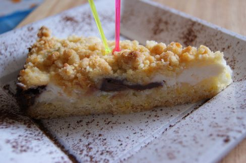 torta sbriciolata ricotta cioccolato