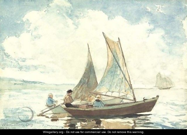 Winslow Homer Watercolor Reproductions Taking on Provisions Fine Art Print