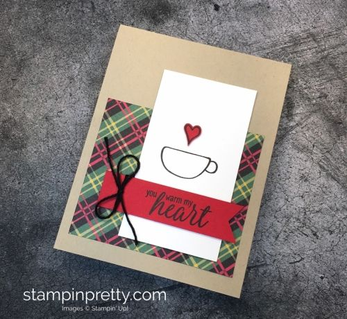 Learn How To Create A Simple Holiday Card Using Stampin Up Hug In Mug Stamp Set