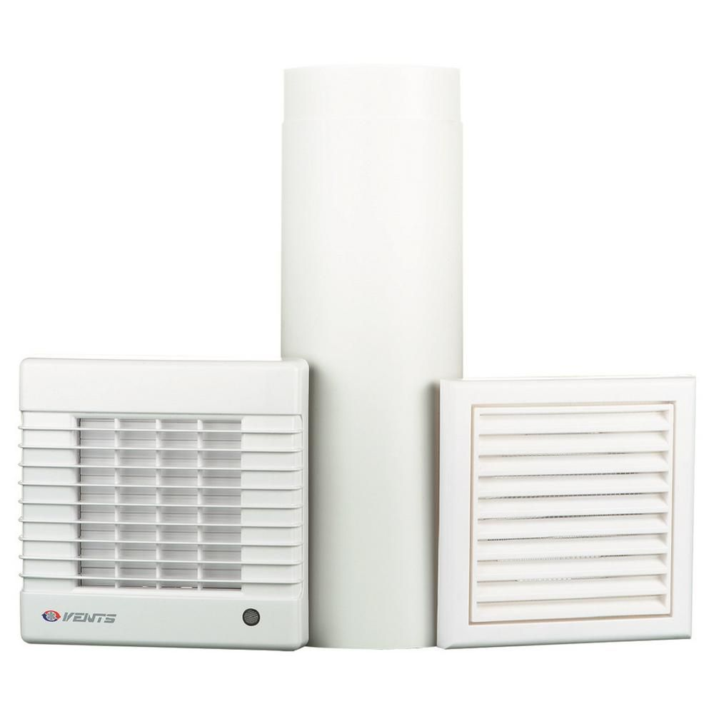 Vents Ma Series 6 In Duct 158 Cfm Wall Through Garage Ventilation Kit Vents Gk 150 Ma The Home Depot In 2020 Garage Ventilation Ventilation Fan Ventilation