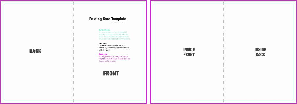 Half Fold Card Template Foldable Card Template Greeting Card Template Free Place Card Template