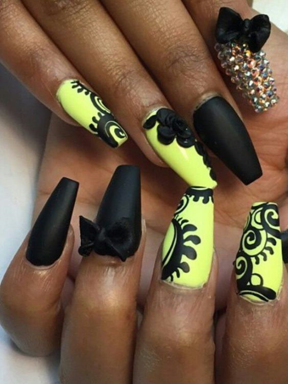 Neon Nails Design | Neon nail designs, Neon nails and Neon