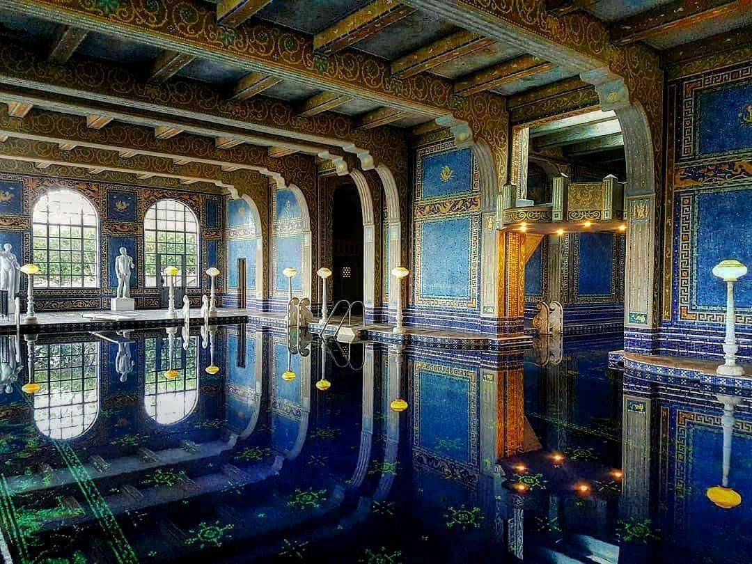Indoor Swimming Pool Hearst Castle Central Coast California