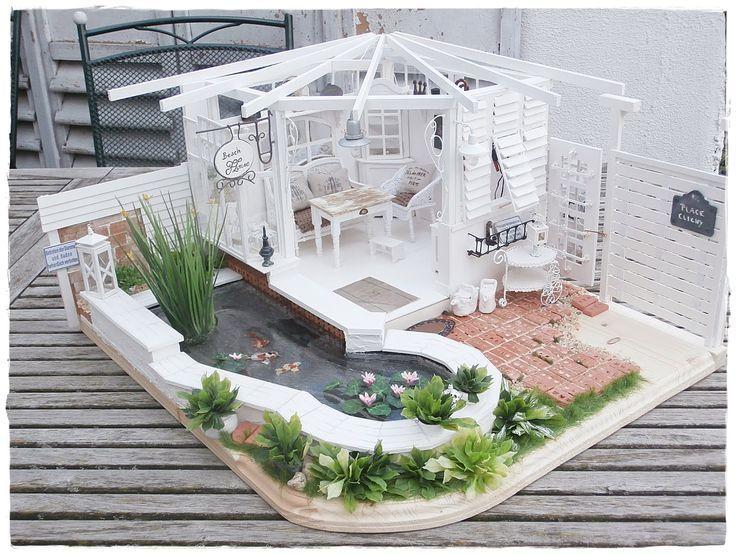 barbiehaus mit garten diy f r puppen puppenkleidung. Black Bedroom Furniture Sets. Home Design Ideas