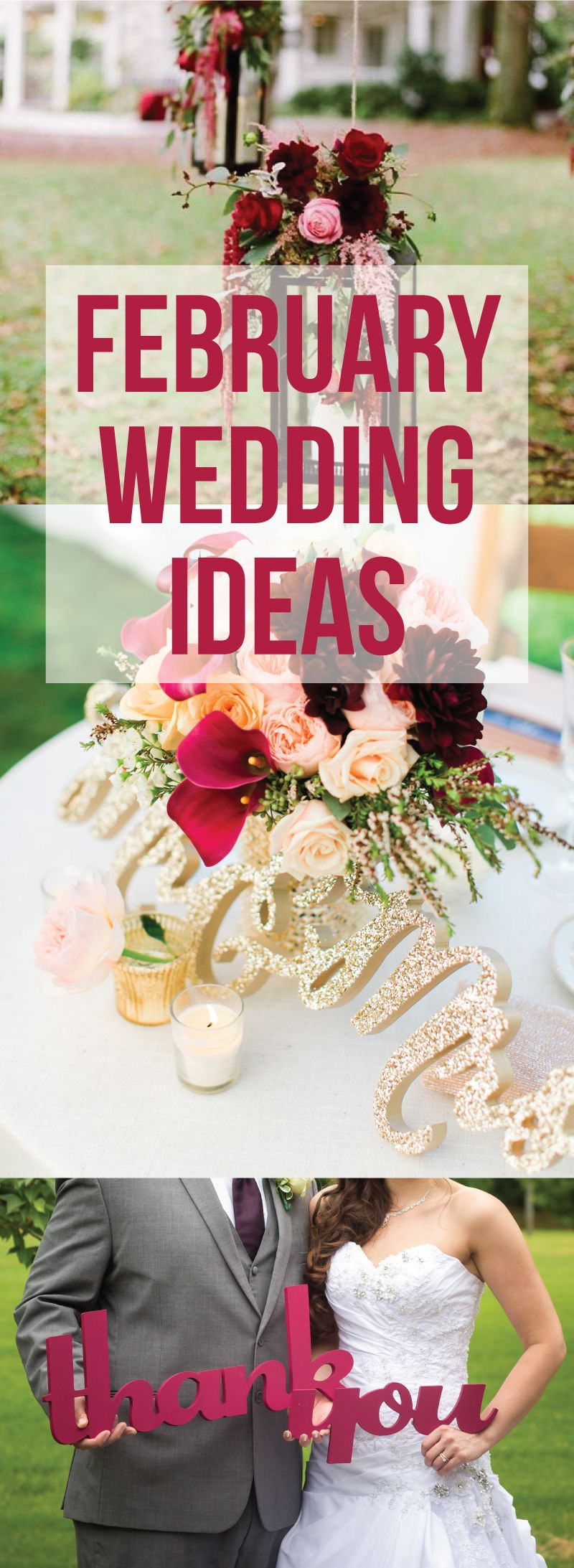 hundreds of great ideas for your romantic february wedding