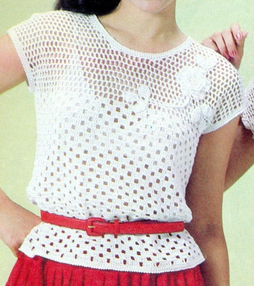Asombroso Patrón Superior Crochet Componente - Manta de Tejer Patrón ...