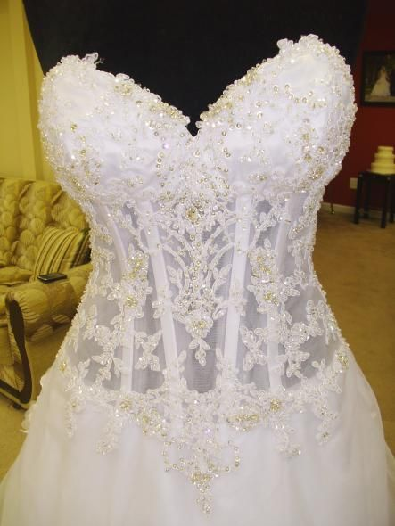 Pnina tornai bodice i want i wouldn 39 t want it to be see for See through corset wedding dresses