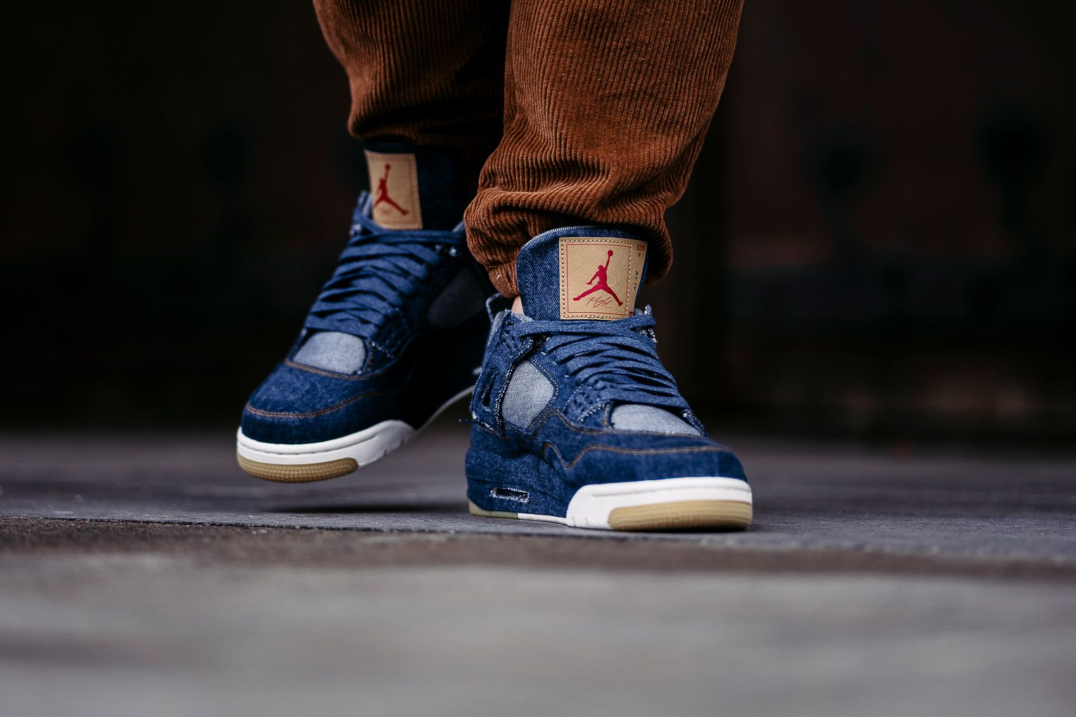 6500e641e6311 An On-Feet Look At The Levi s x Air Jordan 4 Denim