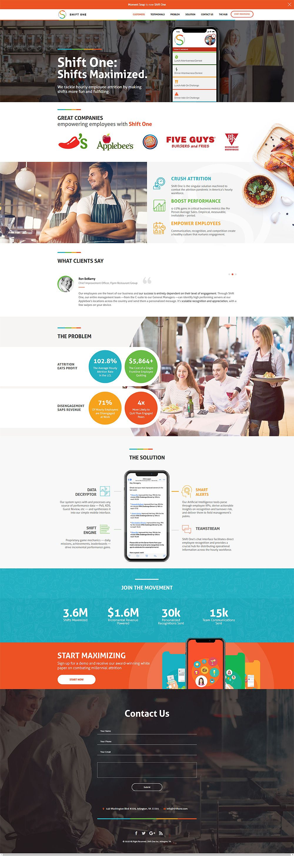 Arlington Website Design For Shiftone Employee Shift Management Solution Website Design Enterprise Application Solutions