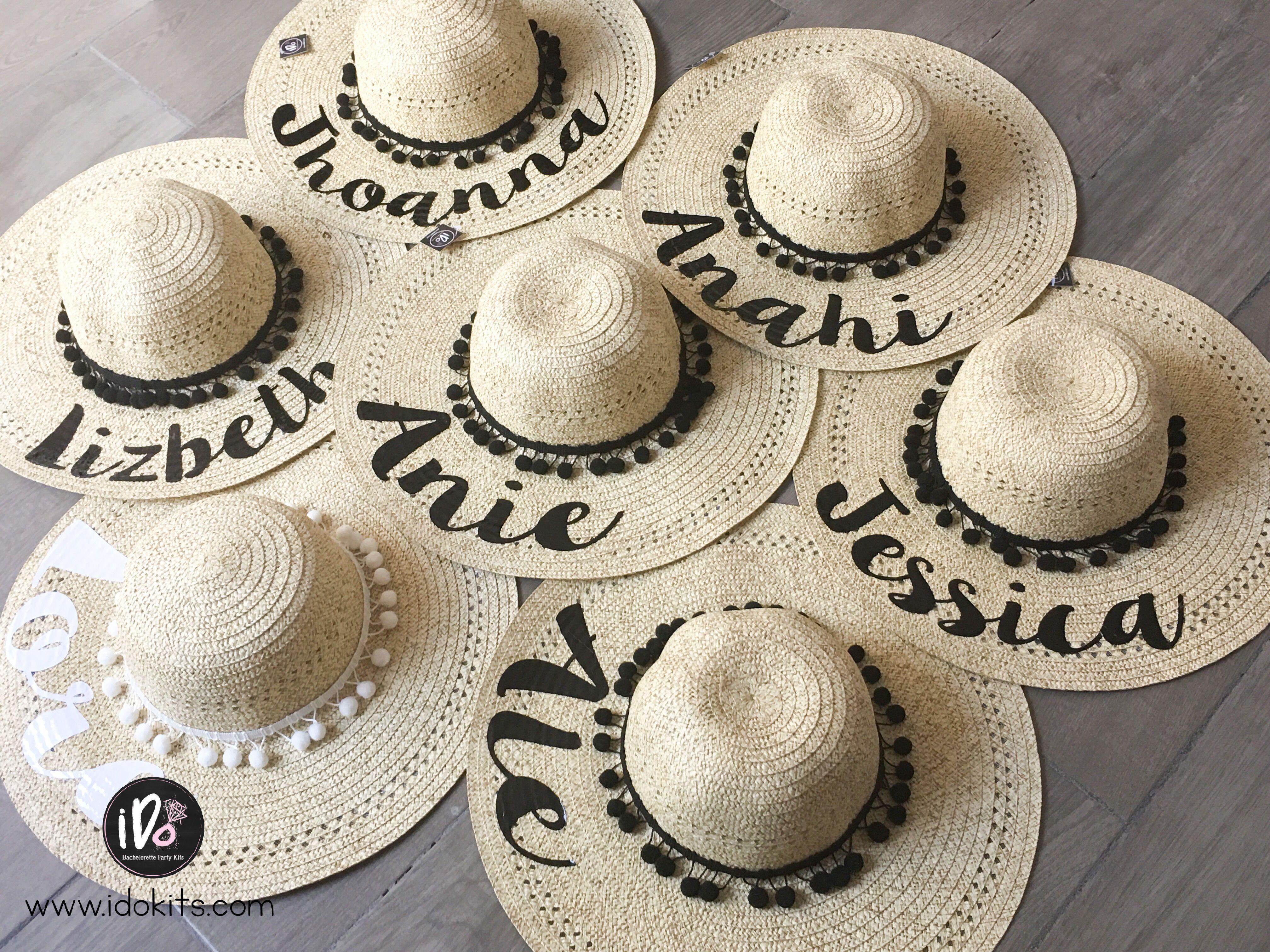 Sombreros personalizados para despedida de soltera www.idokits.com ... ab38b43c447