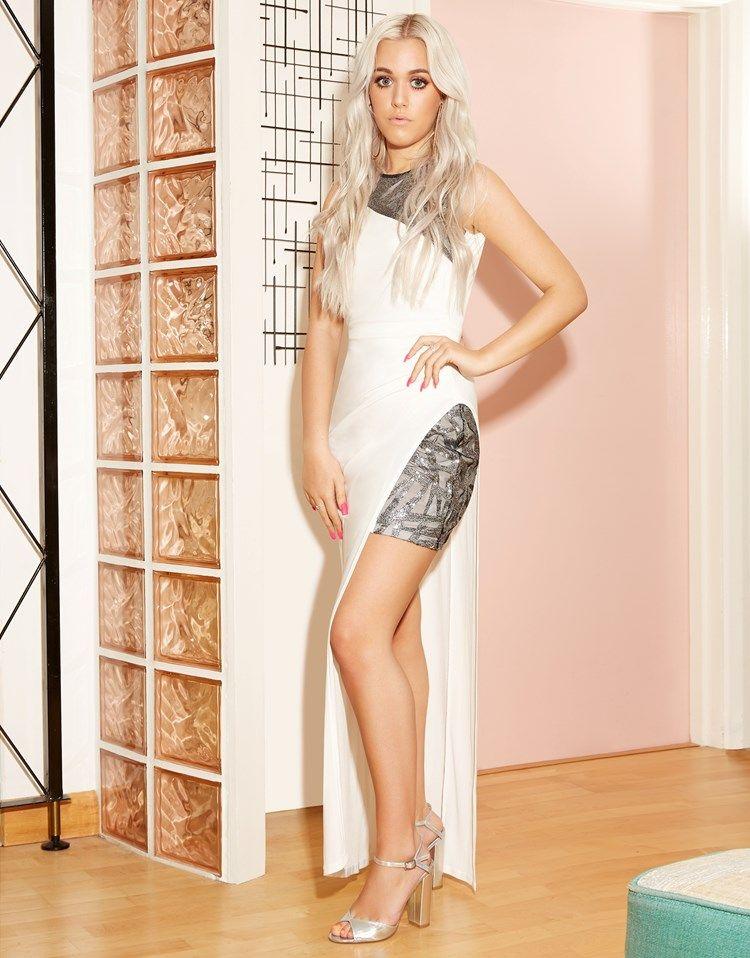 Ariana Grande For Lipsy Geo Sequin Maxi Dress | Společenské šaty ...