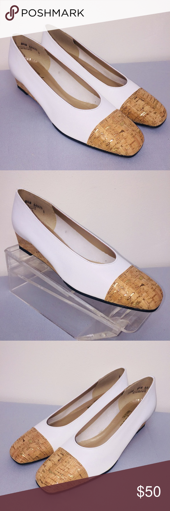 56ed7427b444d Magdesians NWB white wedges leather Sz 8.5 New. Excellent. NWB magdesians Shoes  Wedges
