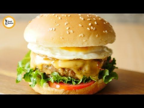 Breakfast Burger Recipe By Food Fusion Youtube Fried Pinterest