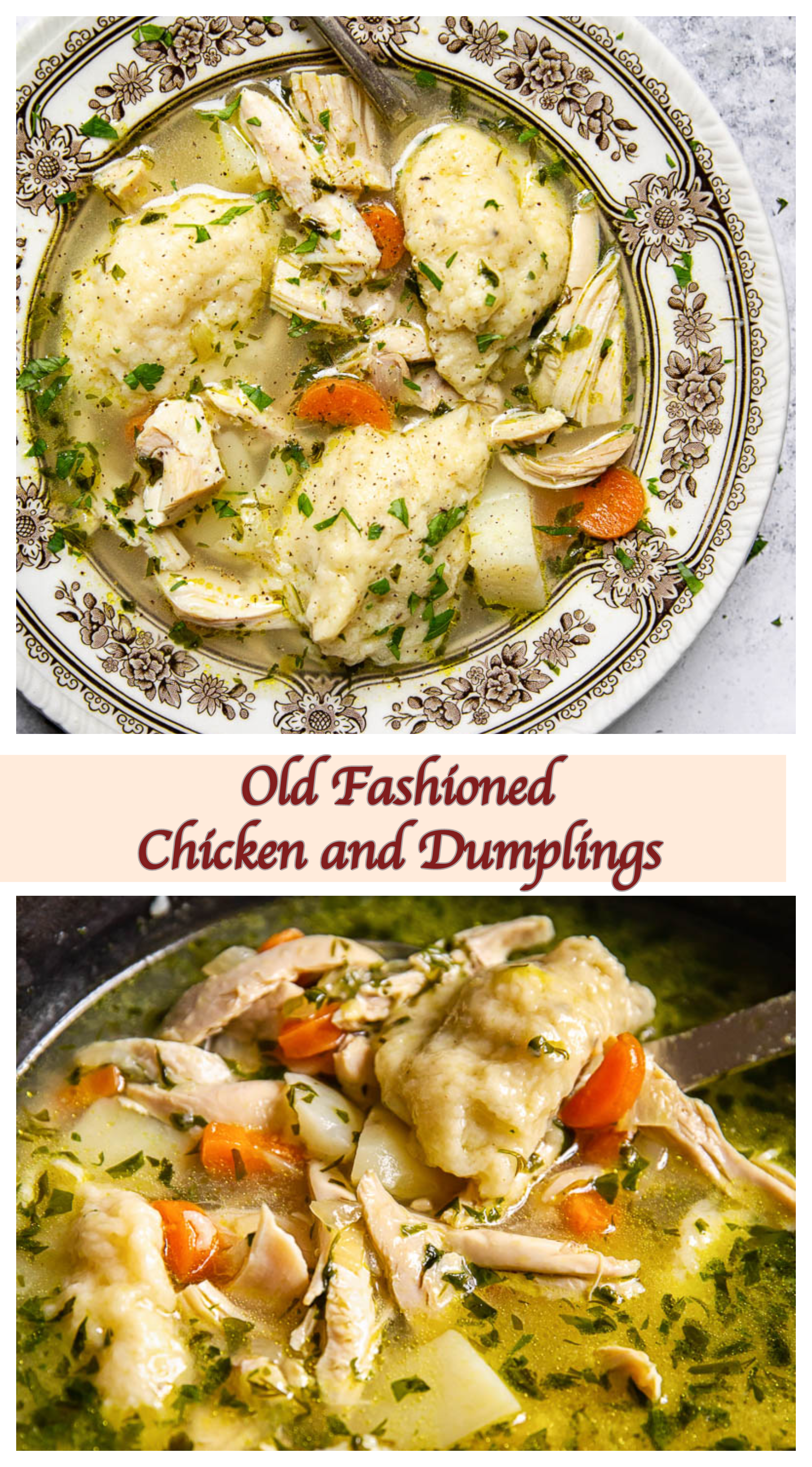 Chicken And Dumpling Soup Chicken And Dumplings Chicken Recipes Dumplings For Soup