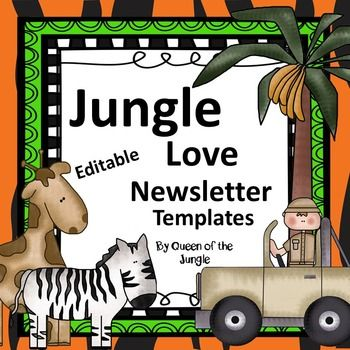Newsletter Templates Editable Newsletter templates, Template and - new jungle powerpoint template