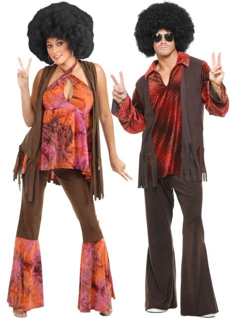 20 Hilarious Couples Costume Ideas Ropa - hippies vestimenta