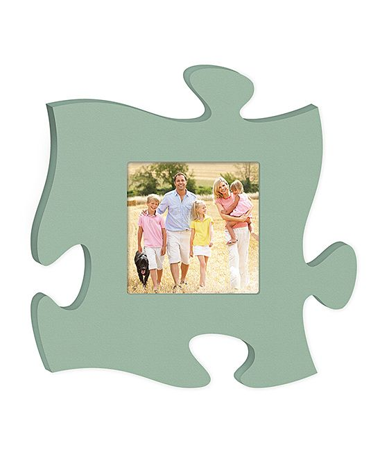 Light Teal Puzzle Piece Photo Frame Puzzle picture frame