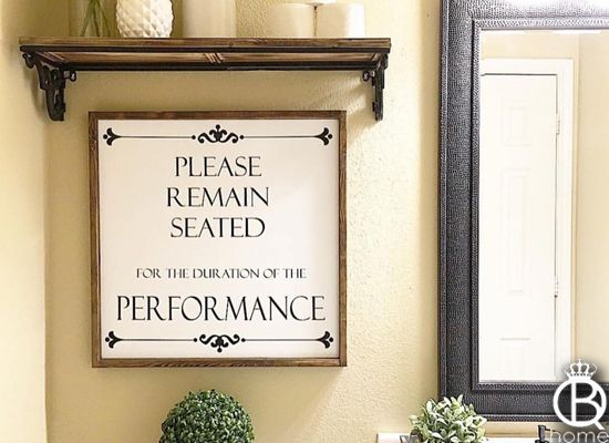 Please Remain Seated Framed Wood Sign 12x12 With Images Wood